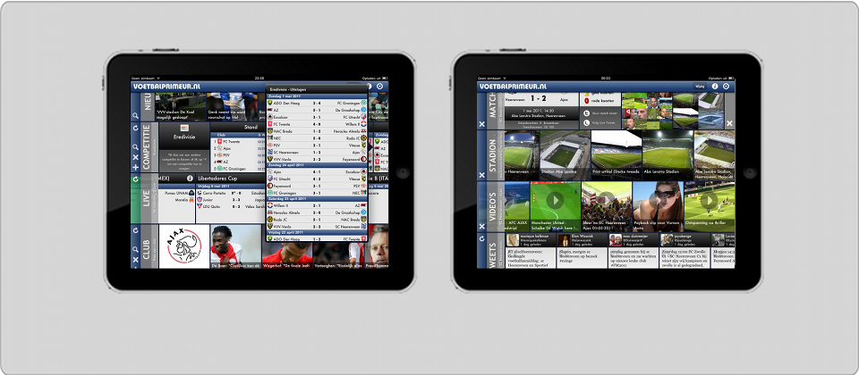 Voetbal Primeur iPad. The latest information on soccer on your iPad.